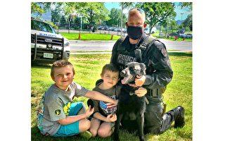 警员携警犬出勤 牵出一段忘年交