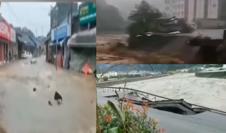 四川近期強降雨持續多天,災情頻發。(影片截圖合成)