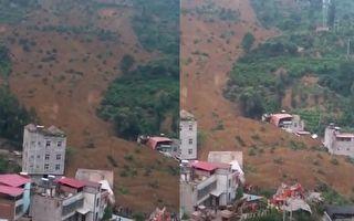 【一线采访】四川汉源山体滑坡十户被埋 已七死