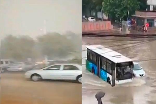 台风巴威登陆中朝交界 大连全市停工停课