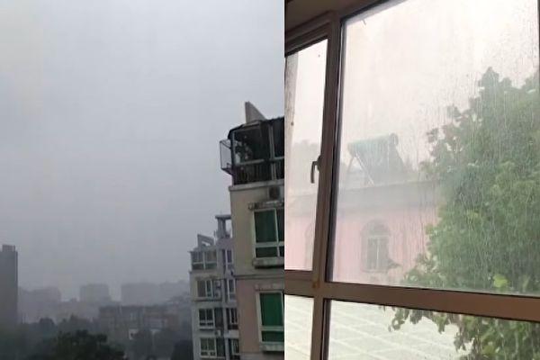 【视频】北京降雨现9级大风 402航班取消