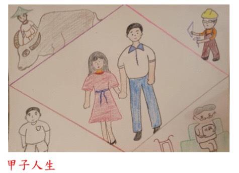 圖:國立空中大學加拿大專班於父親節之際,舉辦藝文徵稿活動,圖為徵集父親節作品中之一。(空大加拿大專班提供)