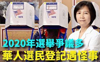 纽约华人选民登记遇怪事 共和党被涂黑
