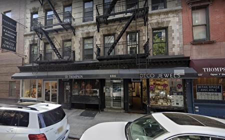 位于曼哈顿苏豪区的汤普森街131-133号临街的一家华人发廊停业,被房东追讨租金。