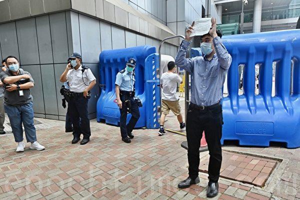 「Lunch 哥」一人警總抗議