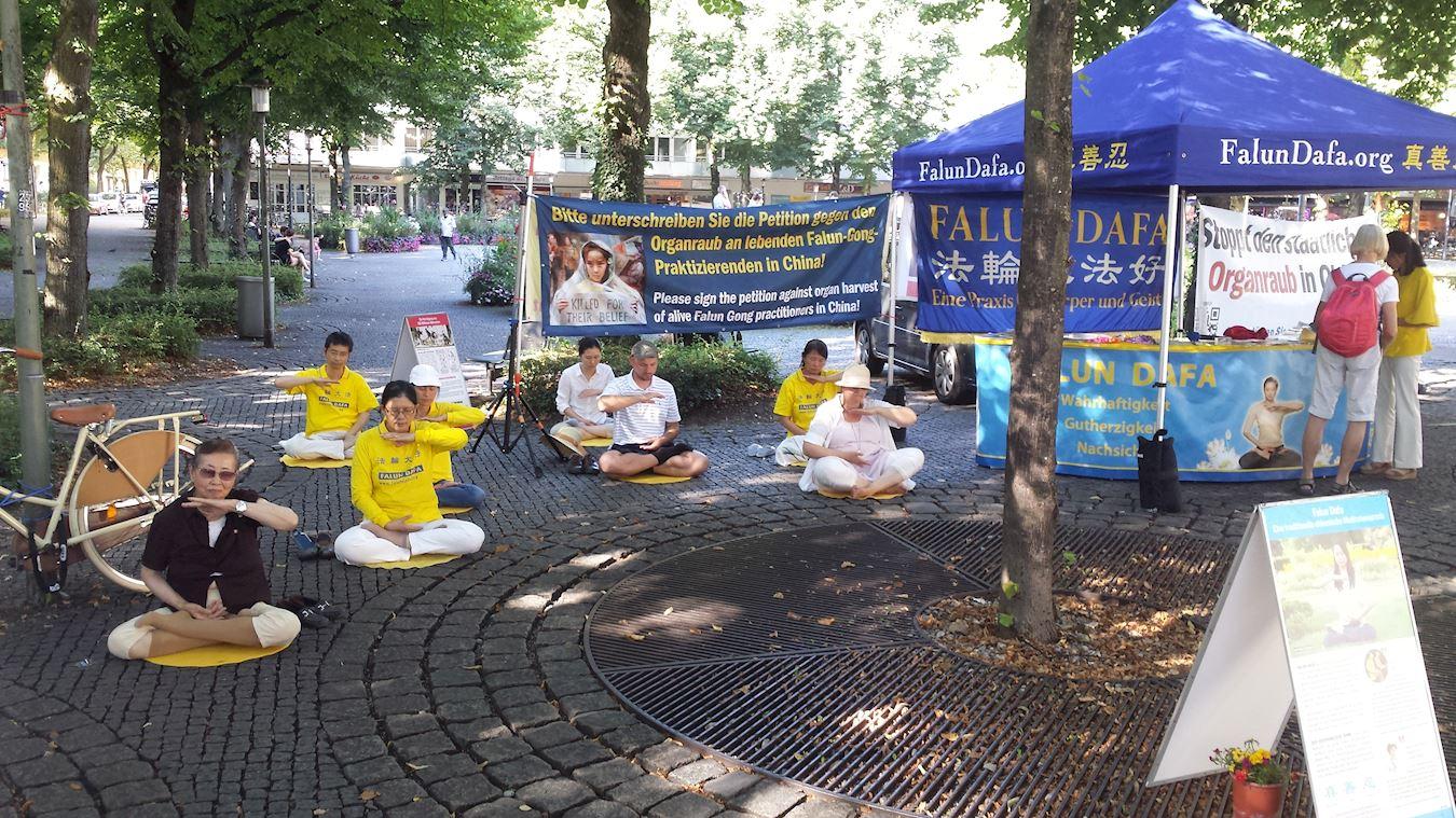 德國人簽名支持法輪功:「為了人類的尊嚴」