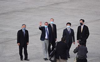 美國衛生部長阿扎爾率團抵達台灣