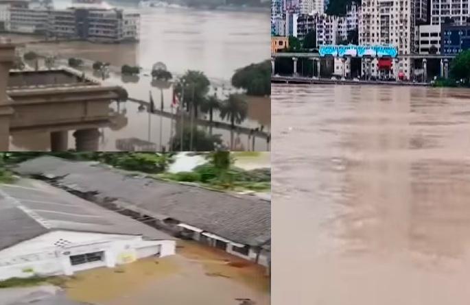 長江嘉陵江洪水過境 重慶遇今年最大洪水