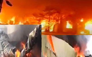 【视频】佛山一物流园突发大火 浓烟遮天