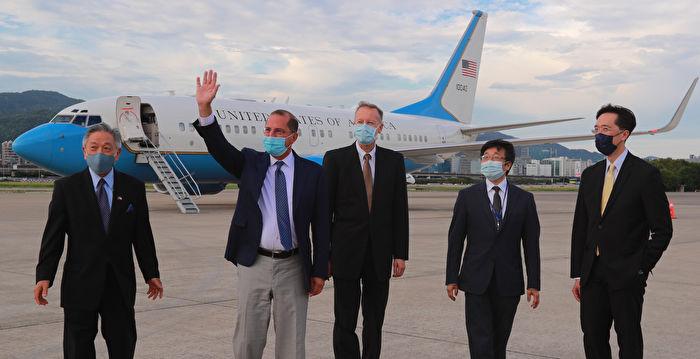 美衛生部長率團高規格訪台 下午已抵松山機場