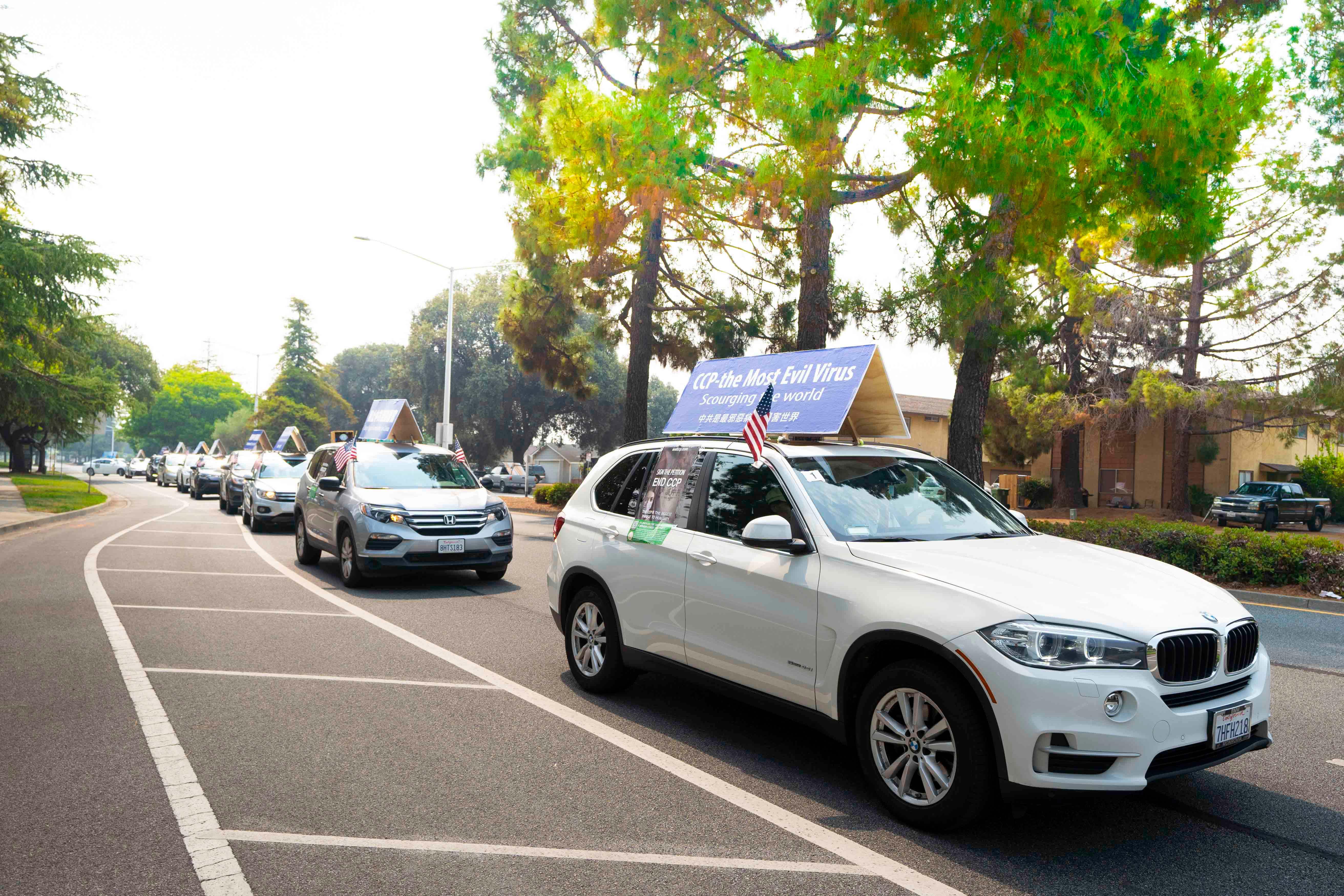 加州菲利蒙法輪功學員汽車遊行