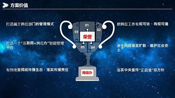 中共公安系統廣泛使用的「利盾輿情監測系統」的簡介截圖 (大紀元)