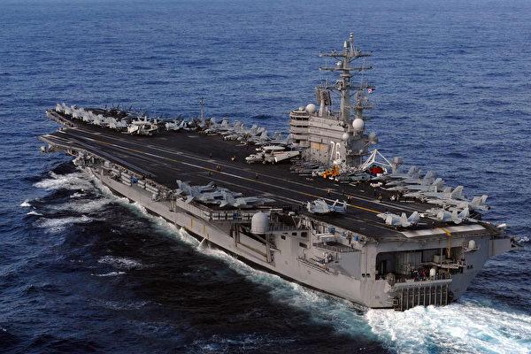 防止中共蠢動?美「雷根號」航母東海巡弋