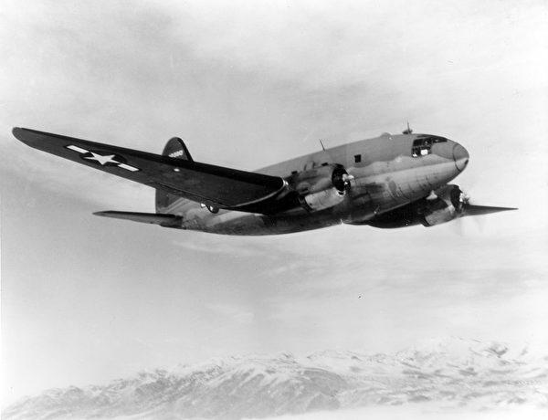 美军的寇蒂斯C-46运输机。(公有领域)