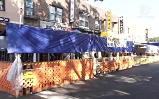 韓國餐館疫情中求生 戶外餐桌擺滿街
