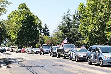 反對加州Prop16公投案車隊遊行