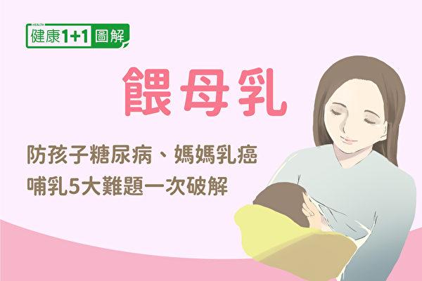 喂母乳有哪些好处?哺乳期间常见5大难题,该如何解决?(健康1+1/大纪元)