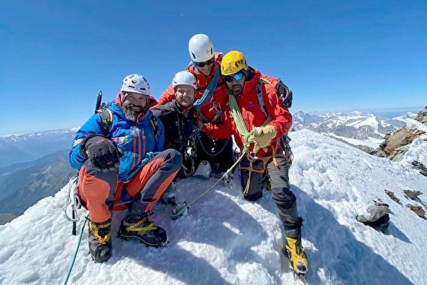 史上首位 英国双腿截肢老兵成功登顶马特洪峰