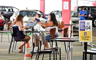 停車場變用餐區 洛杉磯餐館疫情期間換新招