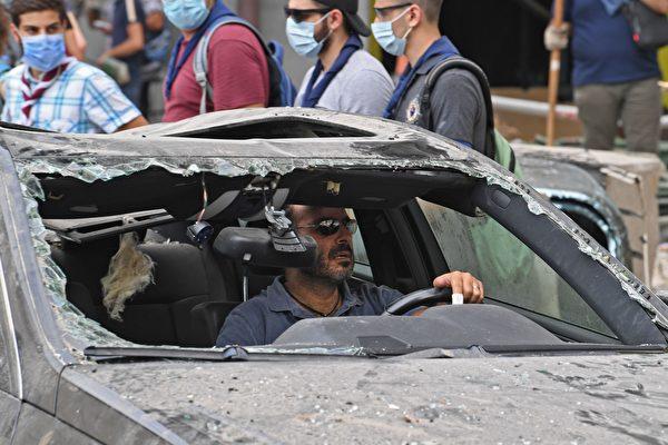 2020年8月4日發生在黎巴嫩首都的大爆炸給當地人造成巨大經濟損失。(AFP via Getty Images)