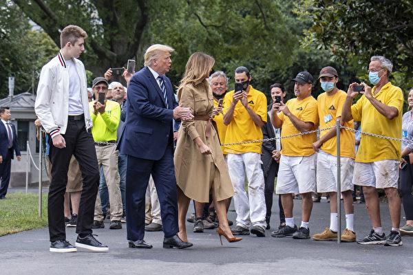 組圖:川普一家人週末過後返回白宮