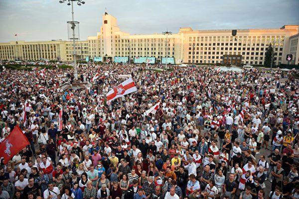 组图:白俄罗斯抗议持续扩大 欧美声明支持