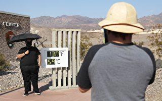 组图:加州死亡谷高温破纪录 高达摄氏59度