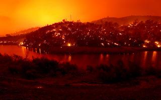 加州过火面积达罗德岛 大火已夺5命