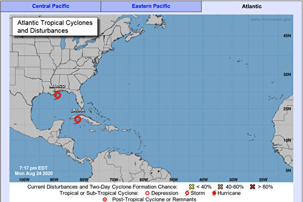 熱帶風暴馬克減弱 勞拉預計發展為颶風