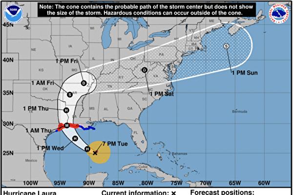 颶風勞拉來襲 部份郡市發佈撤離令