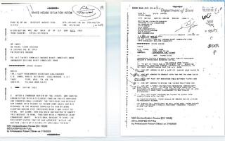 """美公布对台军售和""""六项保证""""解密电报"""