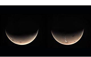 火星出现怪云 长达1800公里