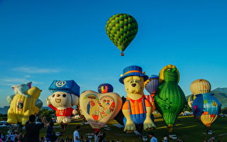 宣傳設計展 林智堅台東體驗熱氣球