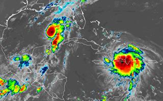 """飓风""""马可""""和热带风暴""""劳拉""""逼近美南"""