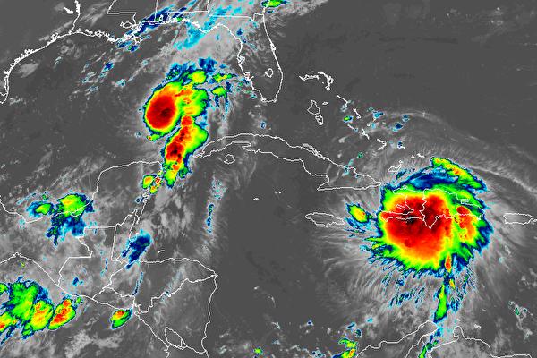 颶風「馬可」和熱帶風暴「勞拉」逼近美南