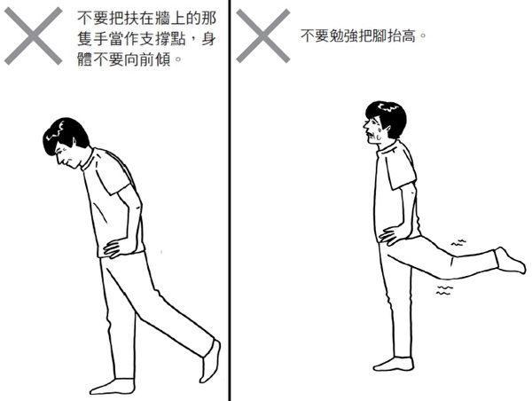 做单脚甩动的需要注意的两件事。(商周出版提供)