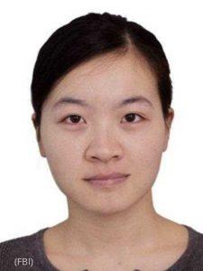 中共軍方中尉葉燕青(Yanqing Ye,音譯) 在波士頓大學(Boston University)物理、化學和生物工程系學習期間向中國傳遞相關文件。(FBI)