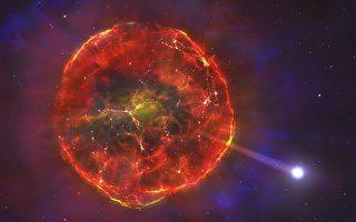 新型超新星爆炸后飞掠银河系