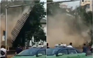 西安明秦王府城牆坍塌 4人被砸傷