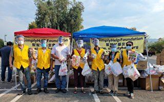 帮帮忙基金会与4领事馆 发食物给2000拉丁裔家庭
