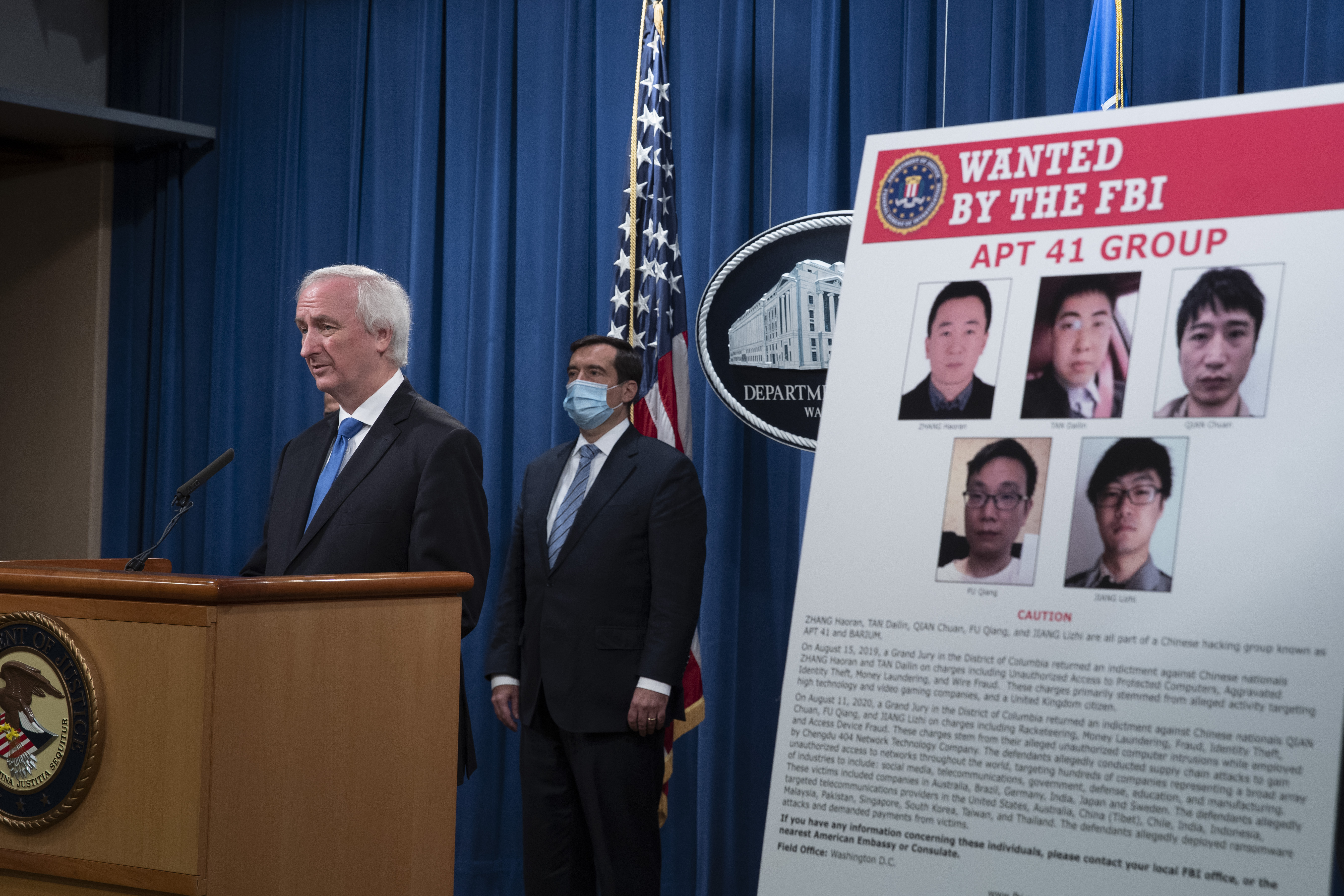中共黑客全球作案 百公司受害 美起訴七人