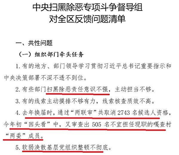 內蒙古自治區黨委組織部2019年8月下發給赤峰市組織部的《督辦通知》。圖為文件截圖。(大紀元)