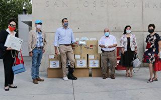 台灣商會為聖荷西市府捐贈防疫物資