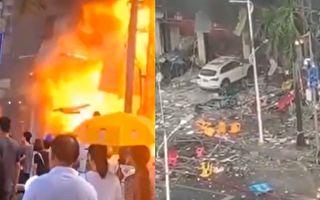 【视频】珠海一酒店附近爆炸 传255人送医