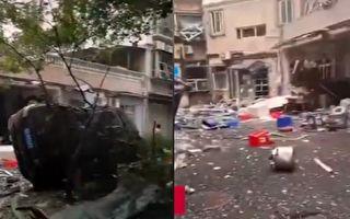【视频】武汉餐馆发生煤气爆炸 房屋被炸毁