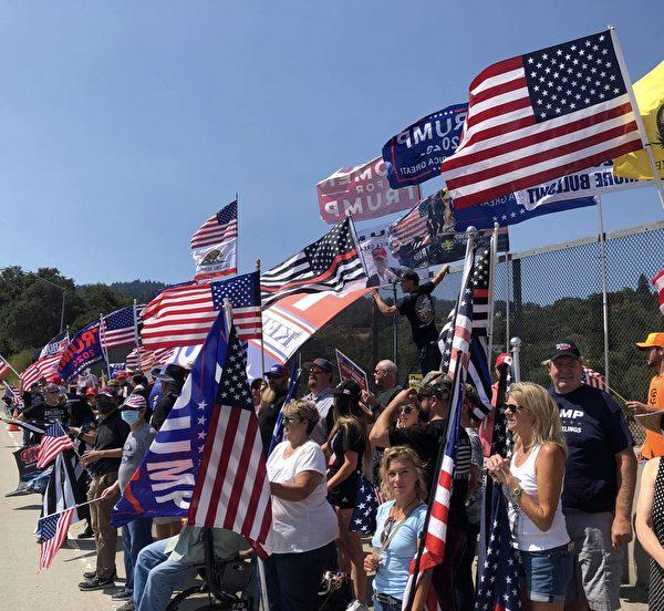 組圖:勞工節加州各地辦活動支持川普連任