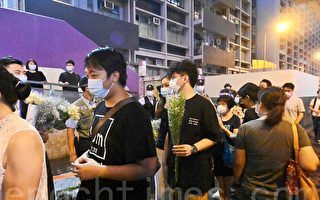 香港市民太子站外献花纪念8.31