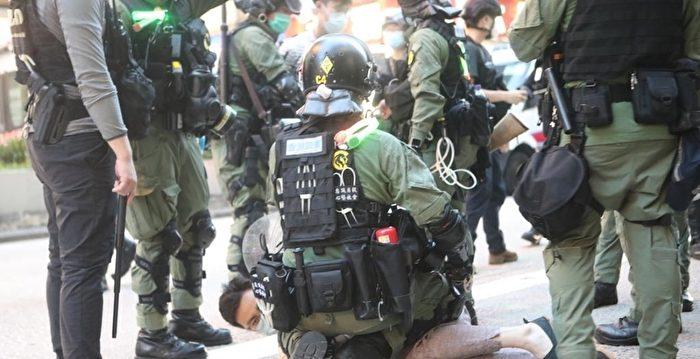 中共駐港部隊教港警中式步操 引關注