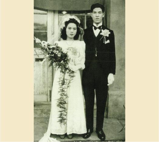 1949年2月9日中華民國前總統李登輝與曾文惠女士結婚。(總統府提供)