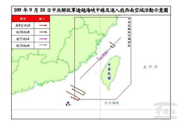 共机连两日越台海中线 台国防部批中共吁自制